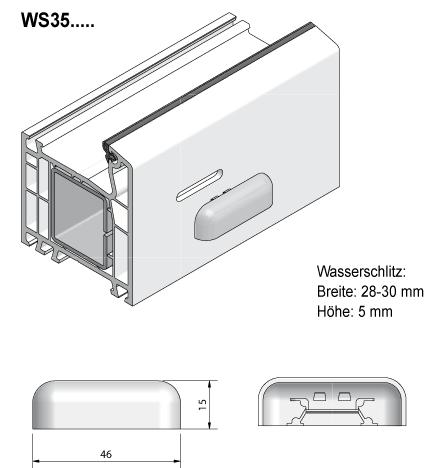 Grundmeier kg wasserschlitzkappen for Einfache kunststofffenster